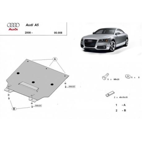 Audi A5 cover under the gearbox – Metal sheet