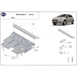 Fiat Punto cover under the engine – Metal sheet