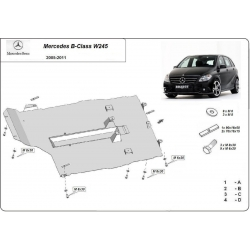 Mercedes B-Class cover under the engine – Metal sheet