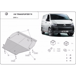 VW T6 cover under the engine – Metal sheet