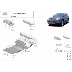 Toyota Auris cover under the engine – Metal sheet