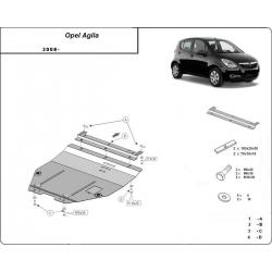 Opel Agila kryt pod motor – plech