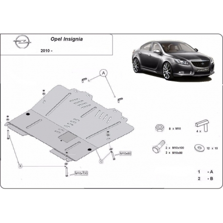 Opel Insignia cover under the engine – Metal sheet