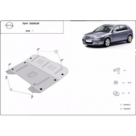 Opel Signum cover under the engine – Metal sheet