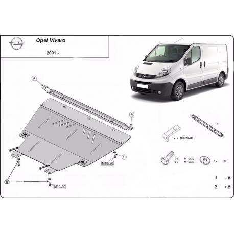 Opel Vivaro cover under the engine – Metal sheet