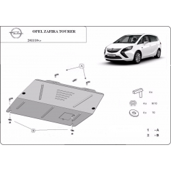 Opel Zafira C kryt pod motor – plech