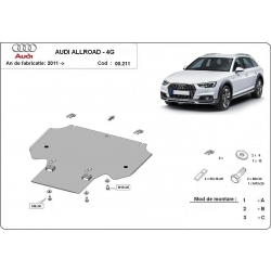 Audi Allroad cover under the gearbox - Metal sheet