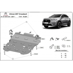 Citroen DS7 Crossback cover under the engine - Metal sheet
