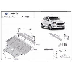 Ford KA cover under the engine - Metal sheet