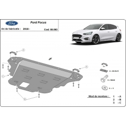 Ford Focus cover under the engine - Metal sheet