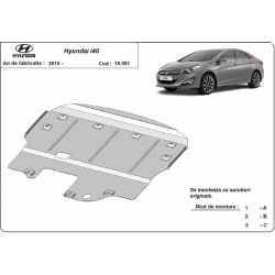 Hyundai i40 cover under the engine - Metal sheet