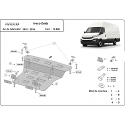 Iveco Daily cover under the engine - Metal sheet