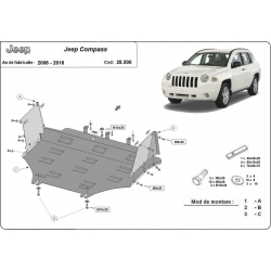 Jeep Compass cover under the engine - Metal sheet