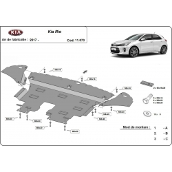 Kia Rio cover under the engine - Metal sheet