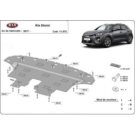Kia Stonic cover under the engine - Metal sheet