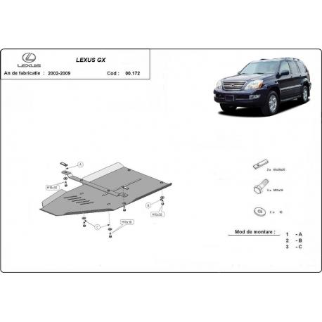 Lexus GX cover under the gearbox - Metal sheet