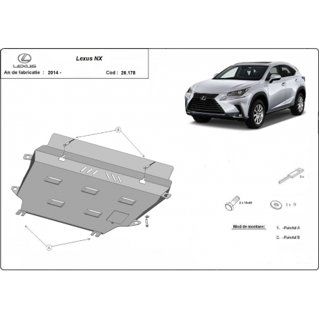 Lexus NX cover under the engine - Metal sheet