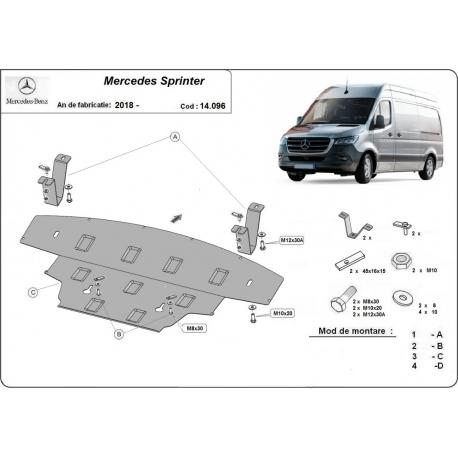 Mercedes Sprinter cover under the engine - Metal sheet