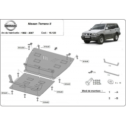Nissan Terrano cover under the engine - Metal sheet