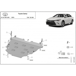 Toyota Camry cover under the engine - Metal sheet