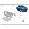 Toyota Hilux Revo cover under the engine - Metal sheet