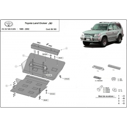 Toyota Land Cruiser cover under the engine - Metal sheet