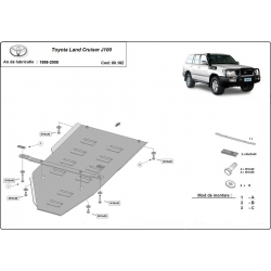 Toyota Land Cruiser cover under the gearbox - Metal sheet