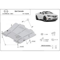 Opel Cascada cover under the engine - Metal sheet
