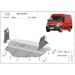 Opel Movano cover under the engine - Metal sheet