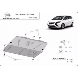 Opel Zafira cover under the engine - Metal sheet