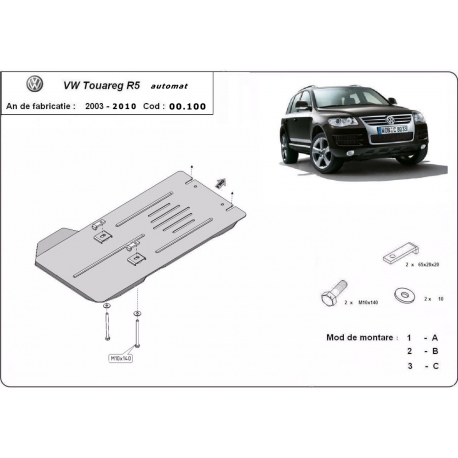 Volkswagen Touareg cover under the gearbox automat - Metal sheet