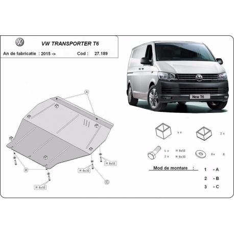 Volkswagen Transporter cover under the engine - Metal sheet