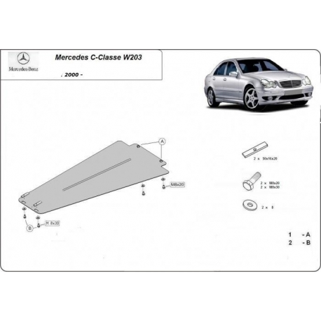 Mercedes C-Classe (cover gearbox) W203, 2.0 - Metal sheet