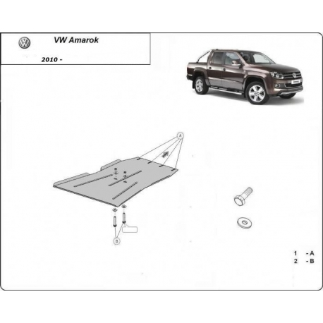 VW Amarok (cover under the engine) 2.0, 2.2, 2.5TDi 4x4 - Metal sheet