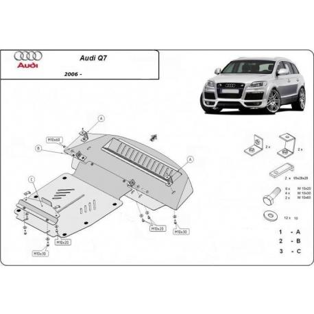 Audi Q7 (cover under the engine) 3.0, 4.2TDI - Metal sheet