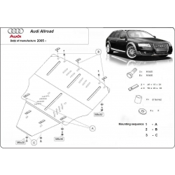 Audi Allroad II (cover under the engine) - Metal sheet