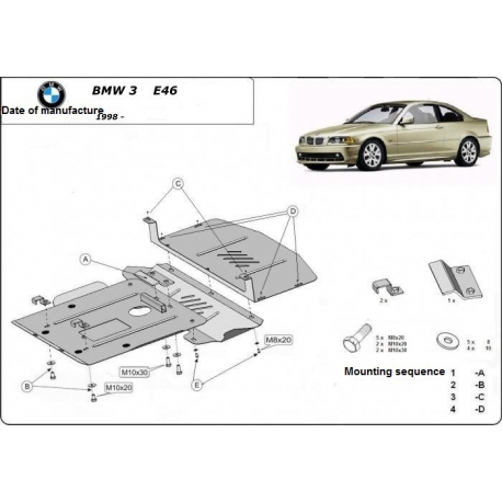 BMW 3 E46 (cover under the engine) - Metal sheet