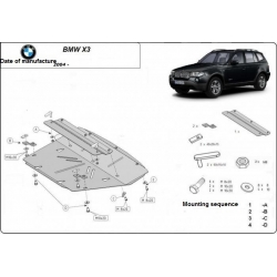 BMW X3 (cover under the engine) - Metal sheet