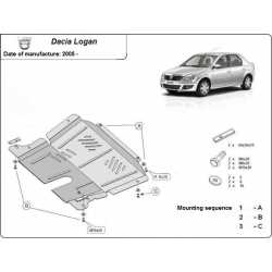 Dacia Logan (cover under the engine) - Metal sheet