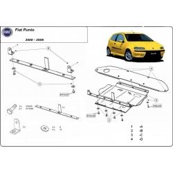 Fiat Punto II kryt pod motor 1.2 8V, 1.3D, 1.4 8V, 1.4 16V - Plech