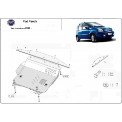 Fiat Panda (cover under the engine) 1.2 - Metal sheet