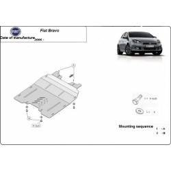 Fiat Bravo (cover under the engine) 1.3, 1.4, 1.6TDi - Metal sheet