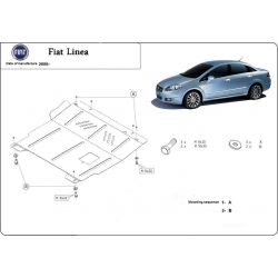 Fiat Linea (cover under the engine) 1.2 8V, 1.3 D, 1.4 8V, 1.4 16V - Metal sheet