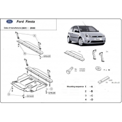 Ford Fiesta (cover under the engine) - Metal sheet