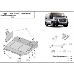 Ford Transit (cover under the engine - přední náhon) 1.7TDci, 2.4TD - Metal sheet