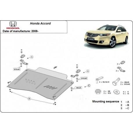 Honda Accord kryt pod motor 2.0, 2.4 - Plech