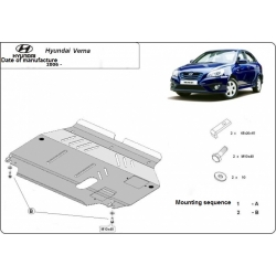 Hyundai Verna (cover under the engine) 1.3, 1.5 - Metal sheet