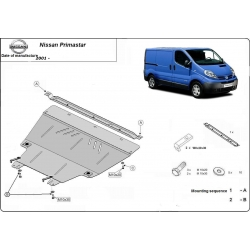 Nissan Primastar (cover under the engine) 1.9D, 2.0, 2.5D - Metal sheet