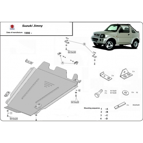Suzuki Jimny (cover under the engine) 1.3B(4WD), 1.5B - Metal sheet