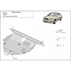 Toyota Corolla (cover under the engine) 1.4, 1.6, 1.8, 2.0D - Metal sheet